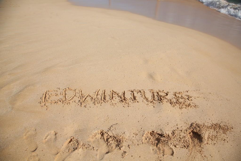 Making my mark on the beach